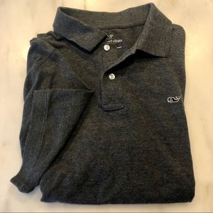 VineyardVines Slim Fit Classic Polo L - Grey S/S